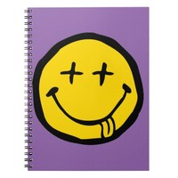dead smiley spiral notebook