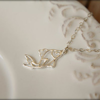 Openwork Koi Fish Necklace in Sterling Silver