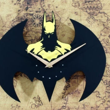 New Home Decoration Quartz Cartoon Mute Fashion Batman Rivet Wall Clock = 1927884740