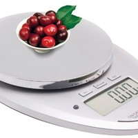 Ozeri Pro II Digital Kitchen Scale with Removable Glass Platform and Countdown Kitchen Timer (1 g to 12 lbs Capacity)