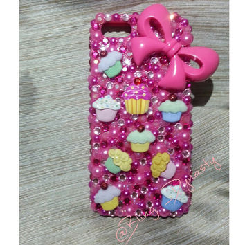 Bling Cupcake theme Iphone 5S Case