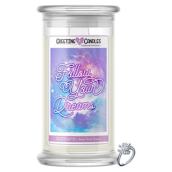 Follow Your Dreams Jewelry Greeting Candle