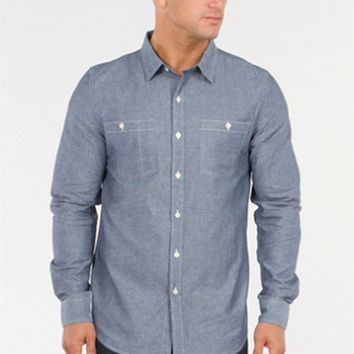 Long Sleeve Chambray Shirt - Indigo