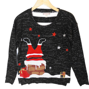 Santa's Big Butt Tacky Ugly Christmas Sweater