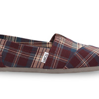 PURPLE WOVEN PLAID WOMEN'S CLASSICS