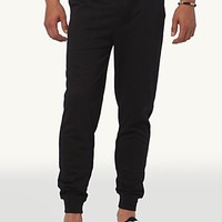 Black Terry Jogger