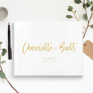 Couples Icon Traditional Guest Book