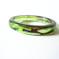 Rani resin bangle bracelet jewelry , apple green and blood red tree resin streak , resin bracelet bangle jewellery , women bangle