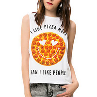Pizza Over People Muscle Tee