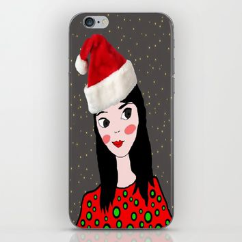Christmas with you | Kids Painting | Only Love by Elisavet iPhone & iPod Skin by Azima