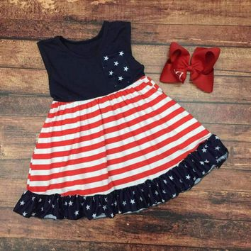 RTS Girls Star Spangled Cutie Dress