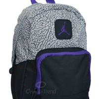 Nike Air Jordan Backpack Gray Black Purple Toddler Preschool Boy Girl Small Mini