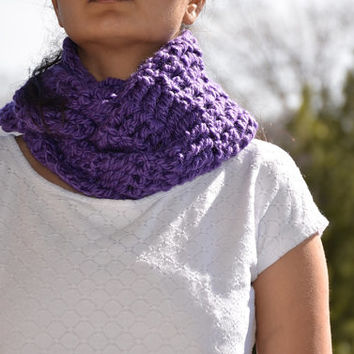 purpel infinity scarf - shop promotion offer
