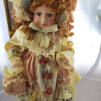Collectible Porcelain Victorian Doll Vanessa Ricardi in Original Box