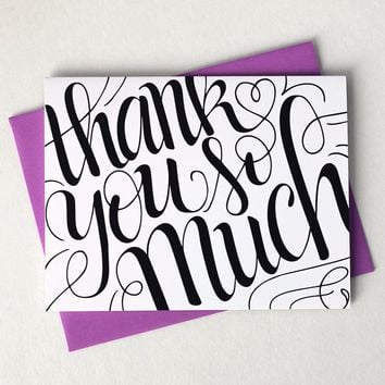 Card - Thank you so much