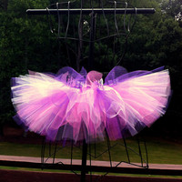 Trinity Tutu - Purple, White and Shocking Pink - Available in Infant, Toddlers, Girls, Teenager and Adult Sizes