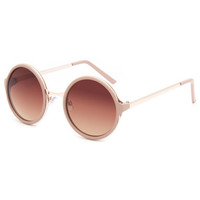 Full Tilt Round Sunglasses Natural One Size For Women 25388342301