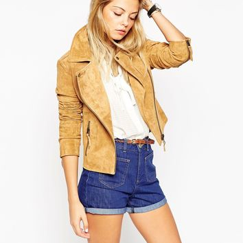 ASOS Biker Jacket in Suede
