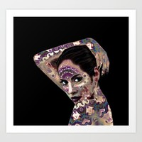 Portrait in the style of body art Art Print by CatyArte