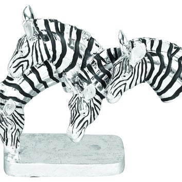 Polystone Grazing Zebras With Wild Life Blend