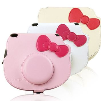 Colorful PU Leather Bag Case For Fujifilm Instax Mini Hello Kitty Camera with Shoulder Strap