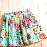 CHIC FLORAL BEAUTY MINI SKIRT