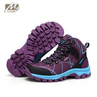 New Couple hiking boots for womens outdoor girls shoes high ankle waterproof and Breathable  sneakers free shipping