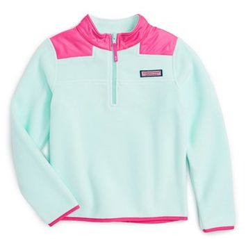 Vineyard Vines Shep Quarter Zip Fleece Sweater (Little Girls) | Nordstrom