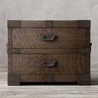 Heirloom Silver-Chest Closed Nightstand