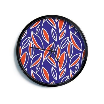 "Emine Ortega ""Leaving Orange""  Modern Wall Clock"