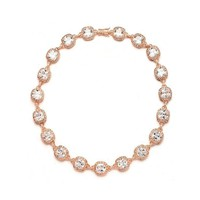 Wedding or Pageant Necklace with Cushion CZ Crystals