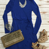 Wrap Dress: Royal