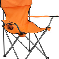 Folding Orange Camping Chair