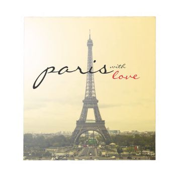 Paris with Love Memo Pads