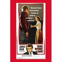 JAMES DEAN REBEL WITHOUT A CAUSE movie poster JUVENILE VIOLENCE 24X36
