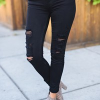 Real Reckless KanCan Skinny Jeans (Black)