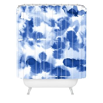 Lisa Argyropoulos Aquatica Denim Blues Shower Curtain