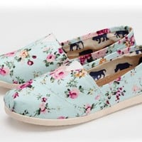 Flora Print Flat  Canvas Shoes