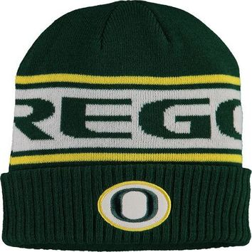 Nike Green Oregon Ducks Sideline Cuffed Knit Hat