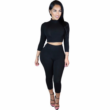 Autumn new products fashion rompers women jumpsuit solid bodysuit women overalls playsuit 5 colors