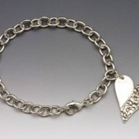 Silver Spoon Precious Buds Vintage Heart Charm Bracelet Charlotte BCH: Jewelry: Amazon.com