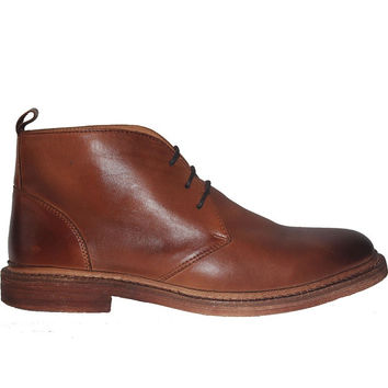 Kixters Shelton - Antique Brown Leather Chukka Boot