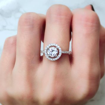 Classic Halo Promise Ring