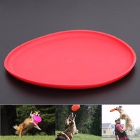 Dogs Toys Pets Silicone Frisbee Flying Disc Outdoor Playing Toy Resistance to bite Toys For Pet Dog Cat Supplies