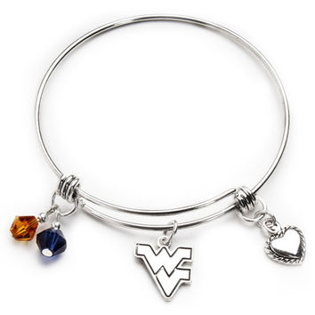 West Virginia Mountaineers Bangle Bracelet