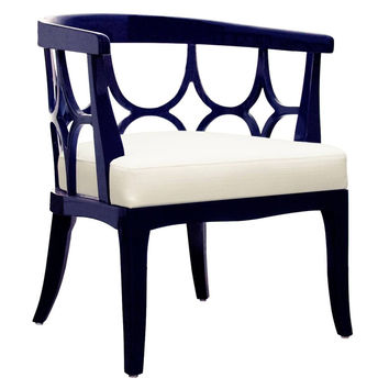 Campbell Chair Navy Green by World's Away