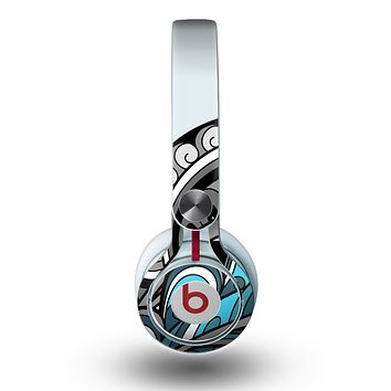 The Abstract Black & Blue Paisley Waves Skin for the Beats by Dre Mixr Headphones