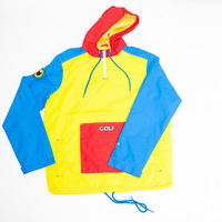 GOLF TRI-COLOR PULLOVER WINDBREAKER – golfwang