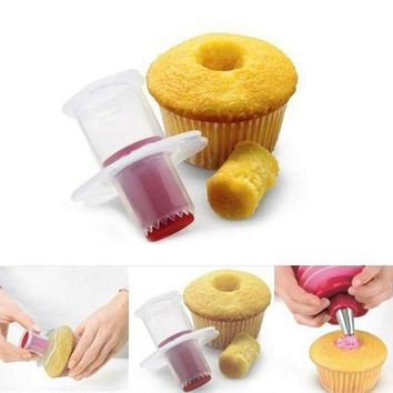 Kitchen cake core remover cake cupcake plunger cake decoration kit home baking tool dessert decorations for cake