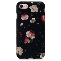 Retro Floral Case Cover for iPhone X 8 6S 7 Plus &Gift Box